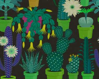 Kathrin und Mark Patel Fototapete «cactus garden2» DD114147