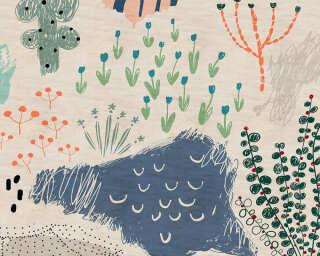 Kathrin und Mark Patel Fototapete «crayon garden1» DD114297