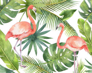 A.S. Création Photo wallpaper «Flamingo 1» DD116612