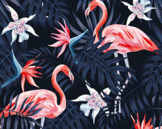 A.S. Création Photo wallpaper «Flamingo 2» DD116613