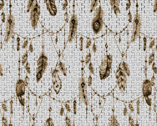Architects Paper Photo wallpaper «FeatherPuzzle2» DD117595