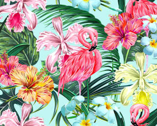 Livingwalls Photo wallpaper «FlamingoArt1» DD118564