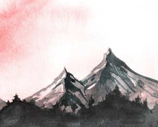 Livingwalls impression numérique «MountainPaint2» DD118608