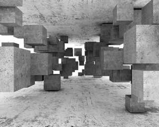 Livingwalls impression numérique «ConcreteTetris» DD118742