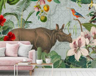 Livingwalls Fototapete «JungleRhino» DD119725