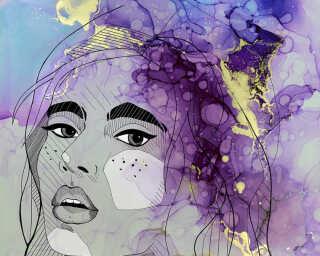 Livingwalls impression numérique «Lady1» DD120009
