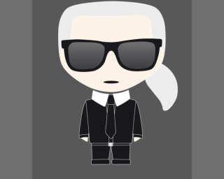 Karl Lagerfeld Fototapete «Icon Karl Blac» DD120249