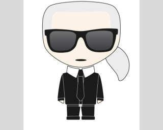 Karl Lagerfeld Fototapete «Icon Karl Whit» DD120250