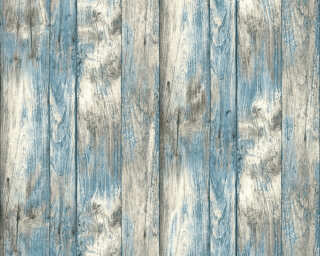 Livingwalls papier peint «Bois, bleu, gris, noir» P468740098