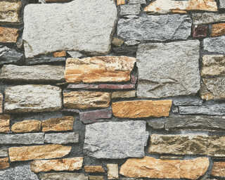Livingwalls Wallpaper «Stone, Brown, Grey» P468740106