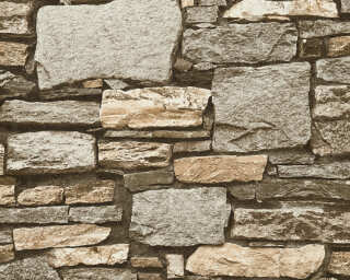 Livingwalls Wallpaper «Stone, Beige, Cream» P468740110