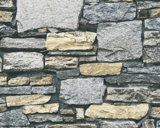 Livingwalls Wallpaper «Stone, Blue, Cream, Grey» P468740115