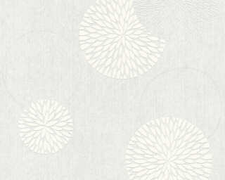 Livingwalls Tapete «Blumen, Weiß, Überstreichbar» P468780003