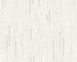 Livingwalls Wallpaper «Uni, Grey, Metallic, White» P468820010