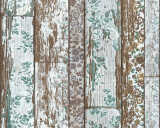 A.S. Création Wallpaper «Wood, Cottage, Blue, Brown, Cream, Green» 361193