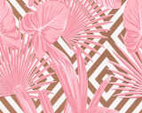 A.S. Création Wallpaper «Graphics, Floral, Copper, Metallic, Pink, White» 368111