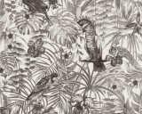A.S. Création papier peint «Jungle, blanc, gris, noir» 372105