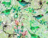 Kathrin und Mark Patel impression numérique «mosaic birds 1» DD110246