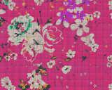 Kathrin und Mark Patel Fototapete «flower plaid 2» DD113827