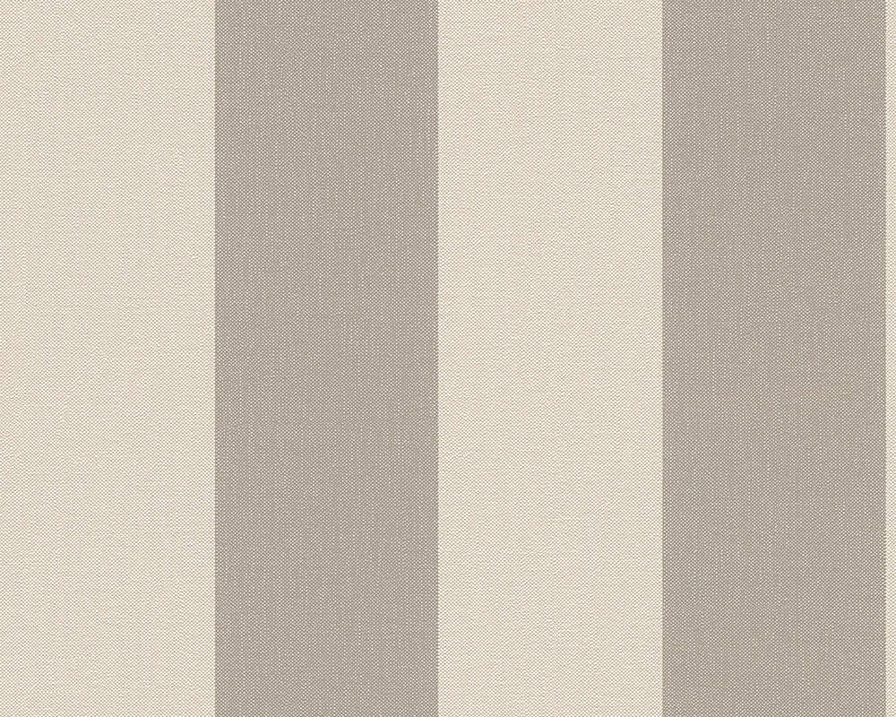 Livingwalls Wallpaper Stripes, Beige, Brown 179036