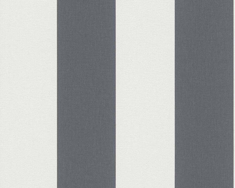 A.S. Création Tapete Streifen, Grau, Weiß 179050