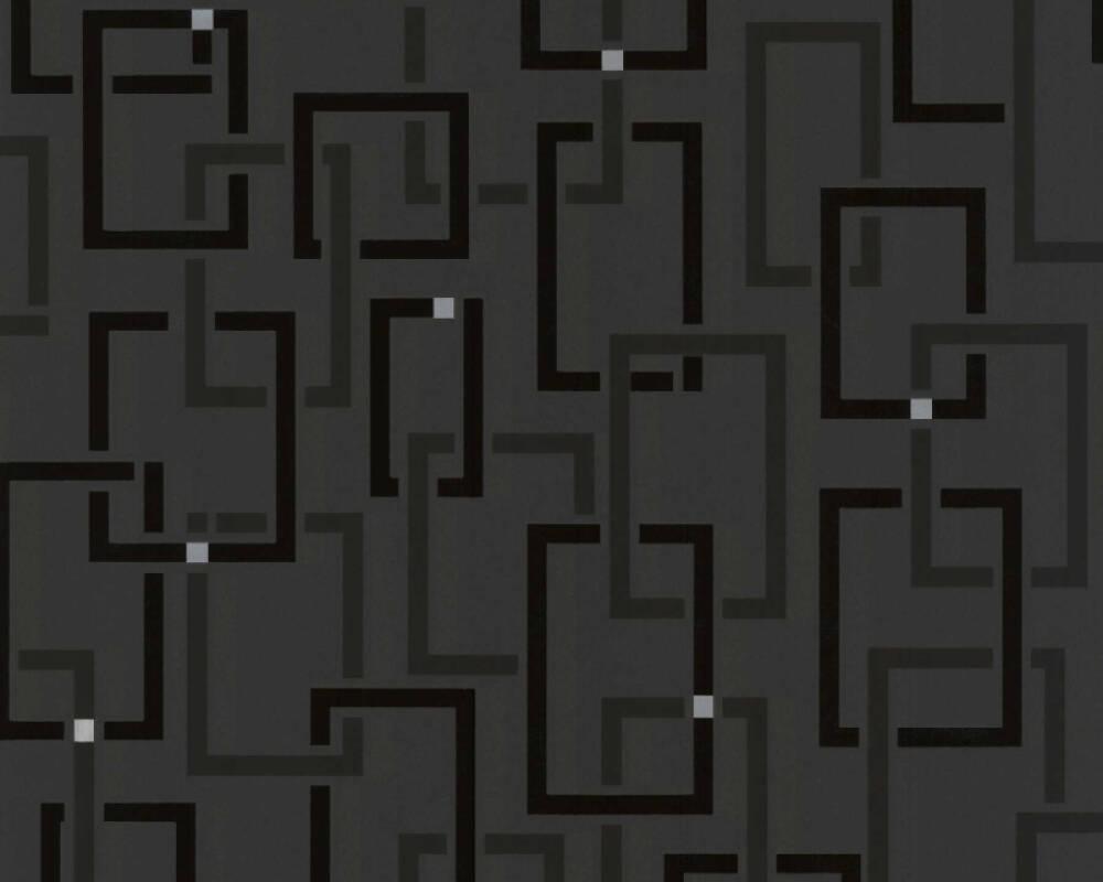 Livingwalls Wallpaper Graphics Black Metallic Silver 230522