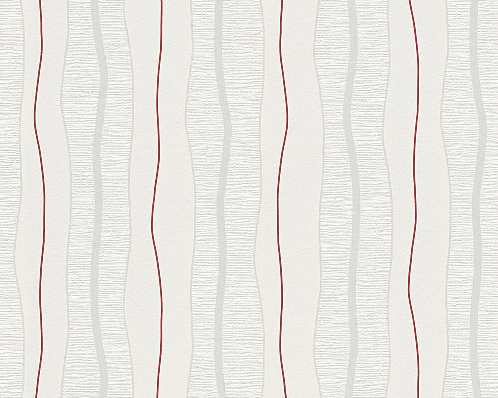 Livingwalls Wallpaper Stripes, Cream, Red 249531