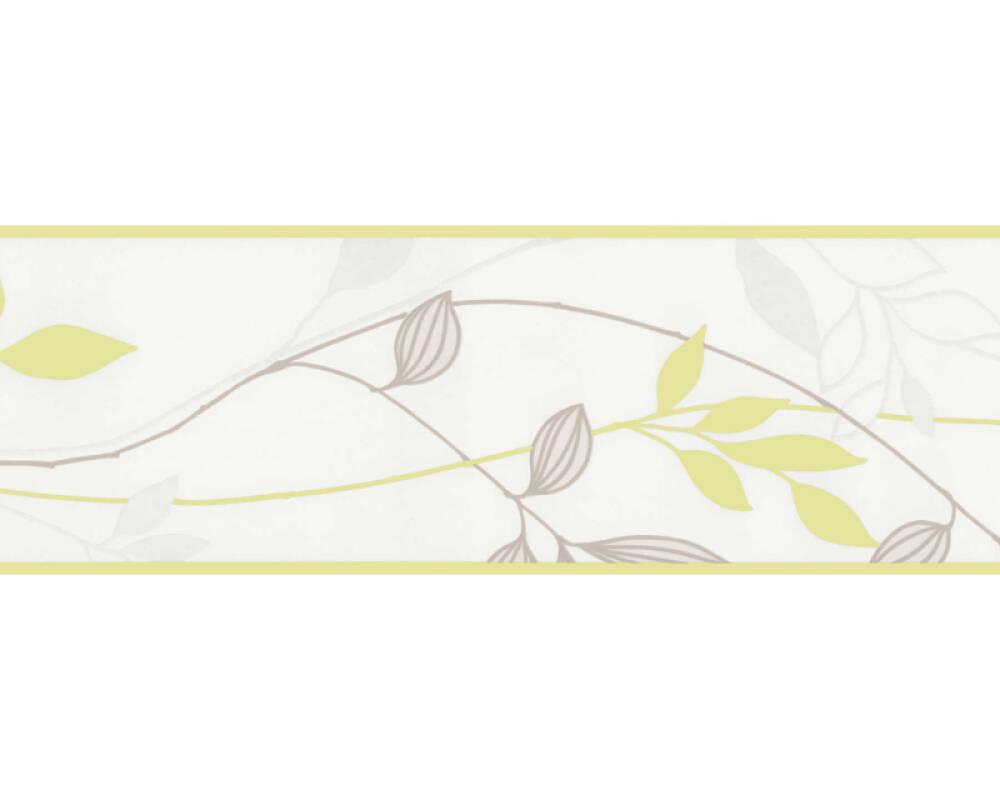 A.S. Création Бордюр Флора, Зеленые, Кремовые, Серыe 249623