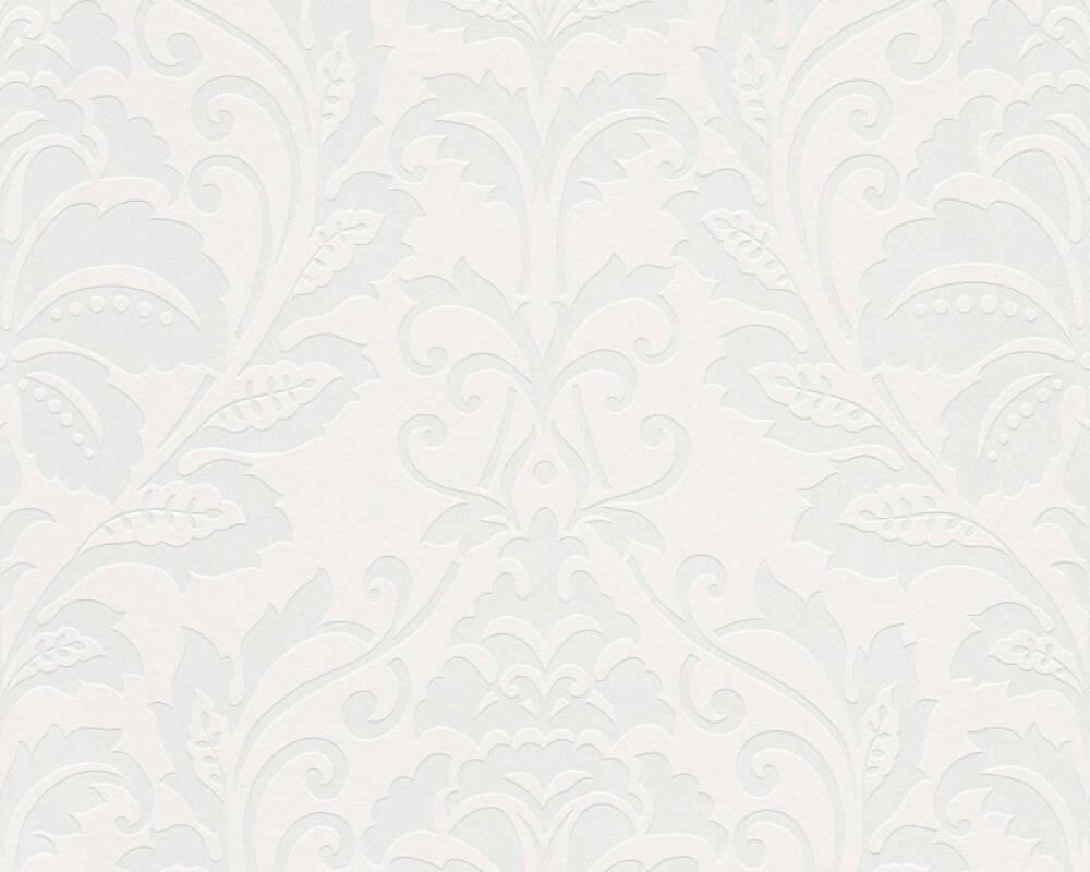 Vintage Vliestapete Bohemian Burlesque Streifen Schwarz Weiß Metallic Barock