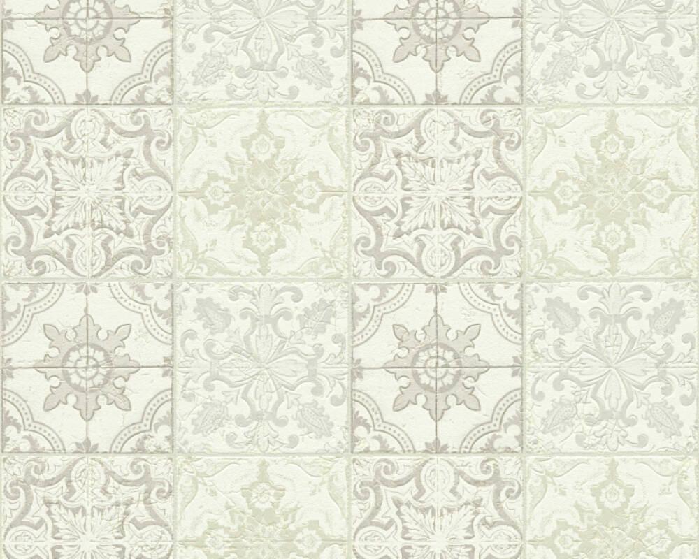 A.S. Création Wallpaper Tile, Beige, Cream, White 300423