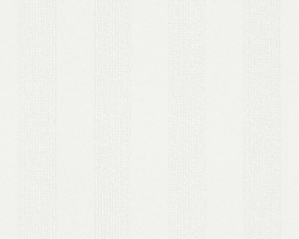 A.S. Création Wallpaper Stripes, White 302372