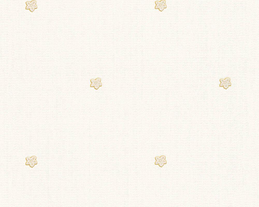 Floral Profil-Vinyltapete - New Orleans - 303941 - Beige, Metallics, Gelb