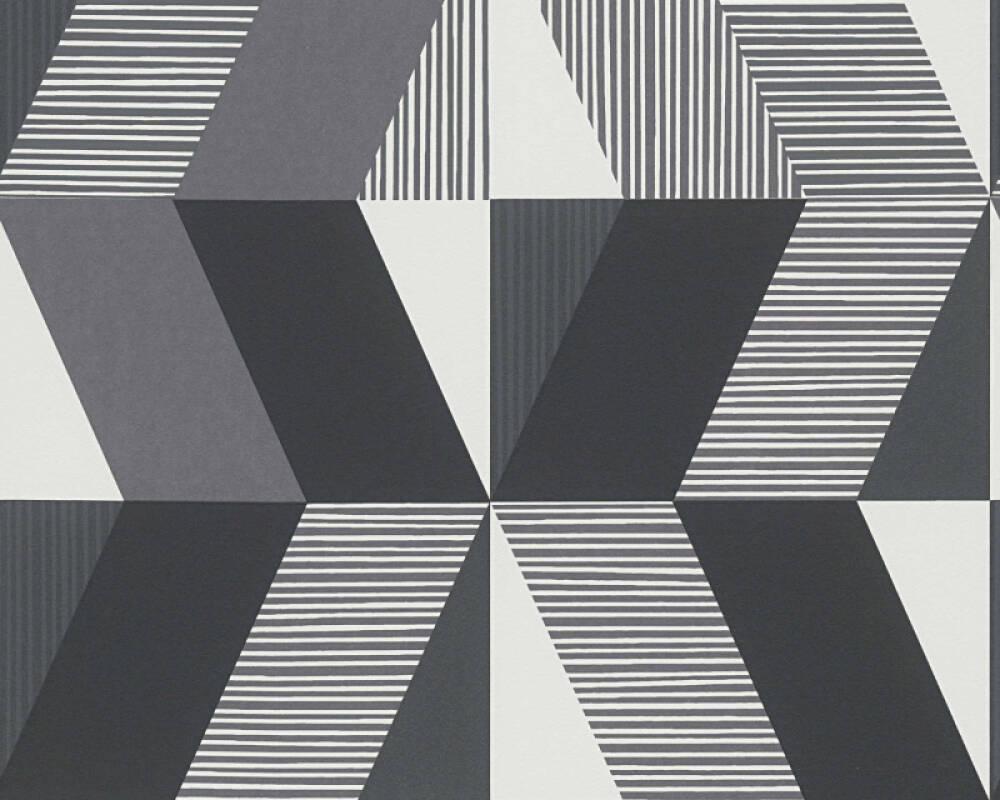 Papier Peint Noir Et Blanc Graphique michalsky living papier peint «graphique, blanc, gris, noir