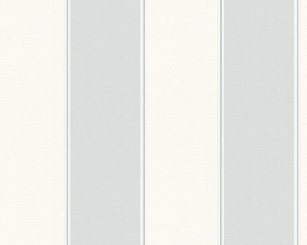 MICHALSKY LIVING papier peint Rayures, blanc, gris 304596