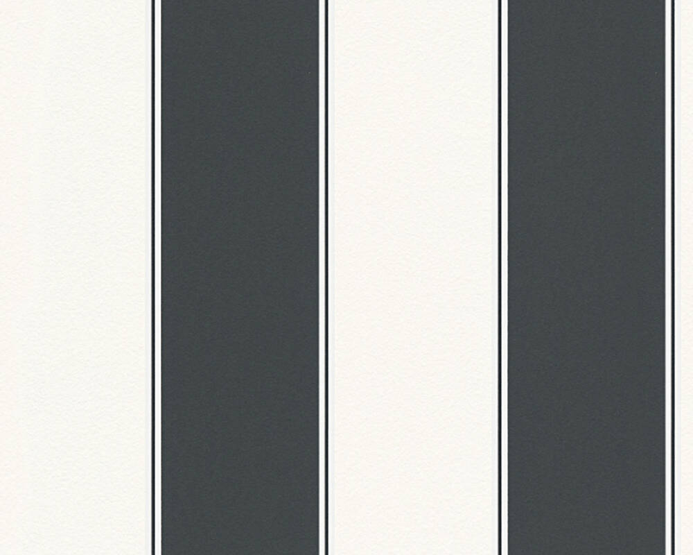 MICHALSKY LIVING Wallpaper Stripes, Black, White 304597