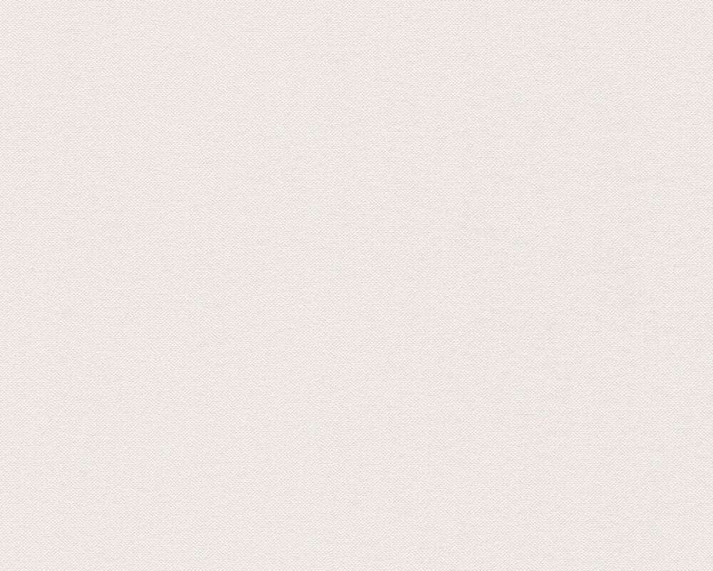A.S. Création papier peint Uni, blanc, crème 304863