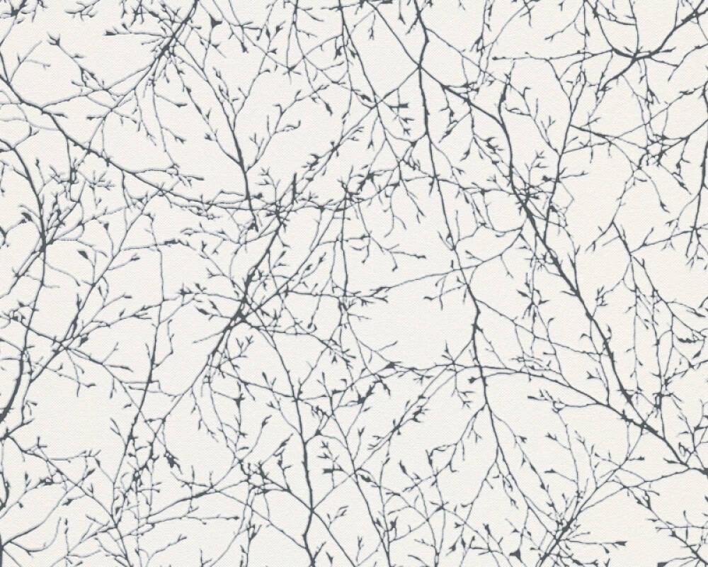 A S Creation Tapete Floral Schwarz Weiss 305073