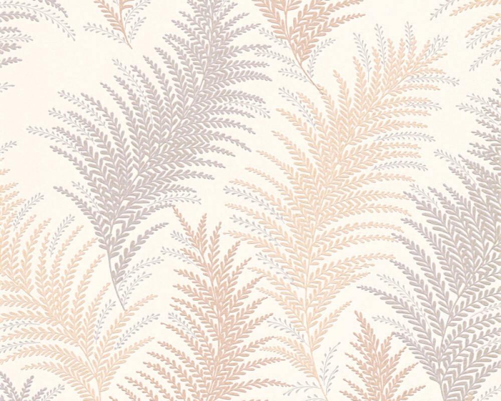 Floral Vinyl-Papiertapete - New Orleans - 305081 30508-1 - Beige, Grau