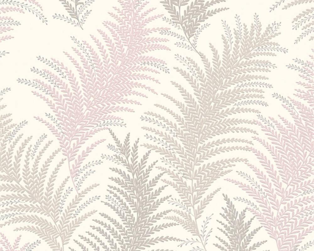 Floral Vinyl-Papiertapete - New Orleans - 305083 30508-3 - Creme, Grau