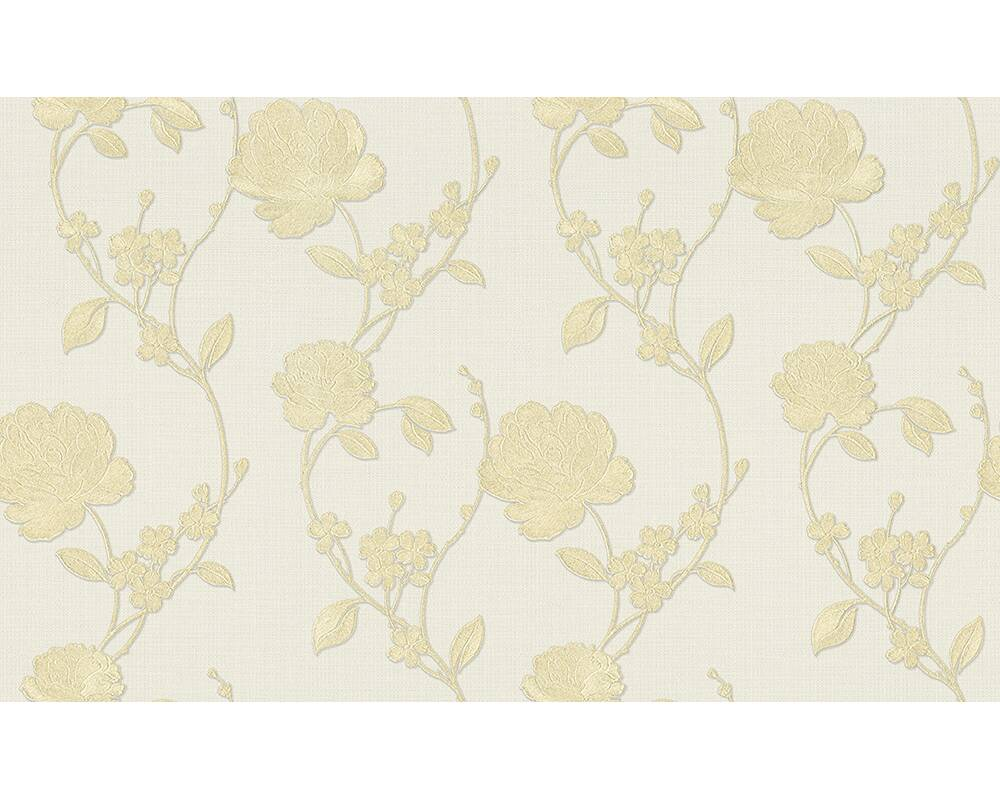Originals Wallpaper Floral Cream Gold Metallic 305383