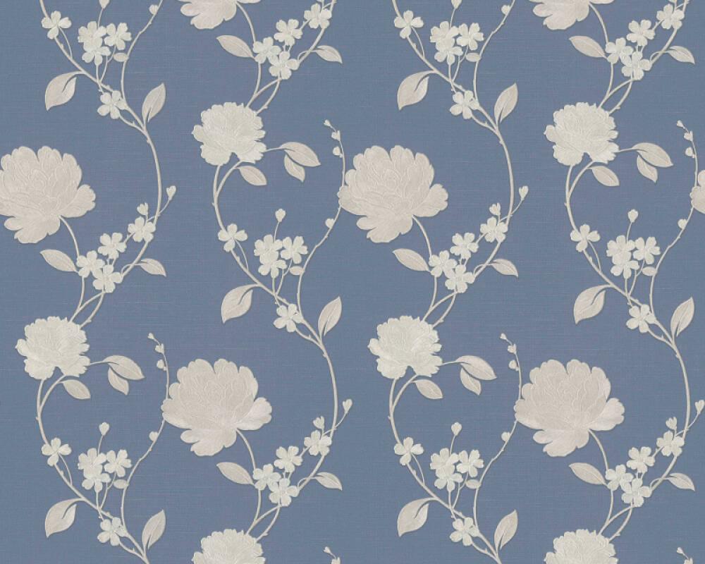 ORIGINALS papier peint Floral, beige, bleu, métallique 305384