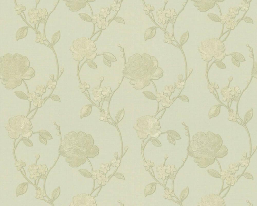 ORIGINALS papier peint Floral, métallique, or, vert 305385