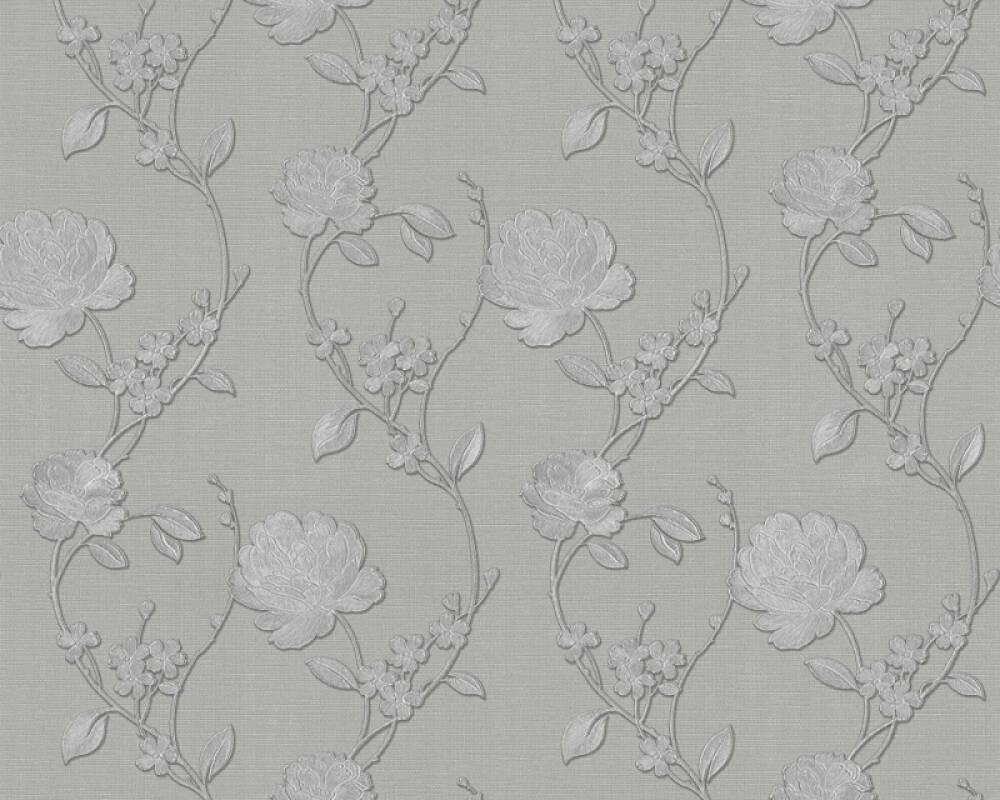 ORIGINALS papier peint Floral, argent, gris, métallique 305386