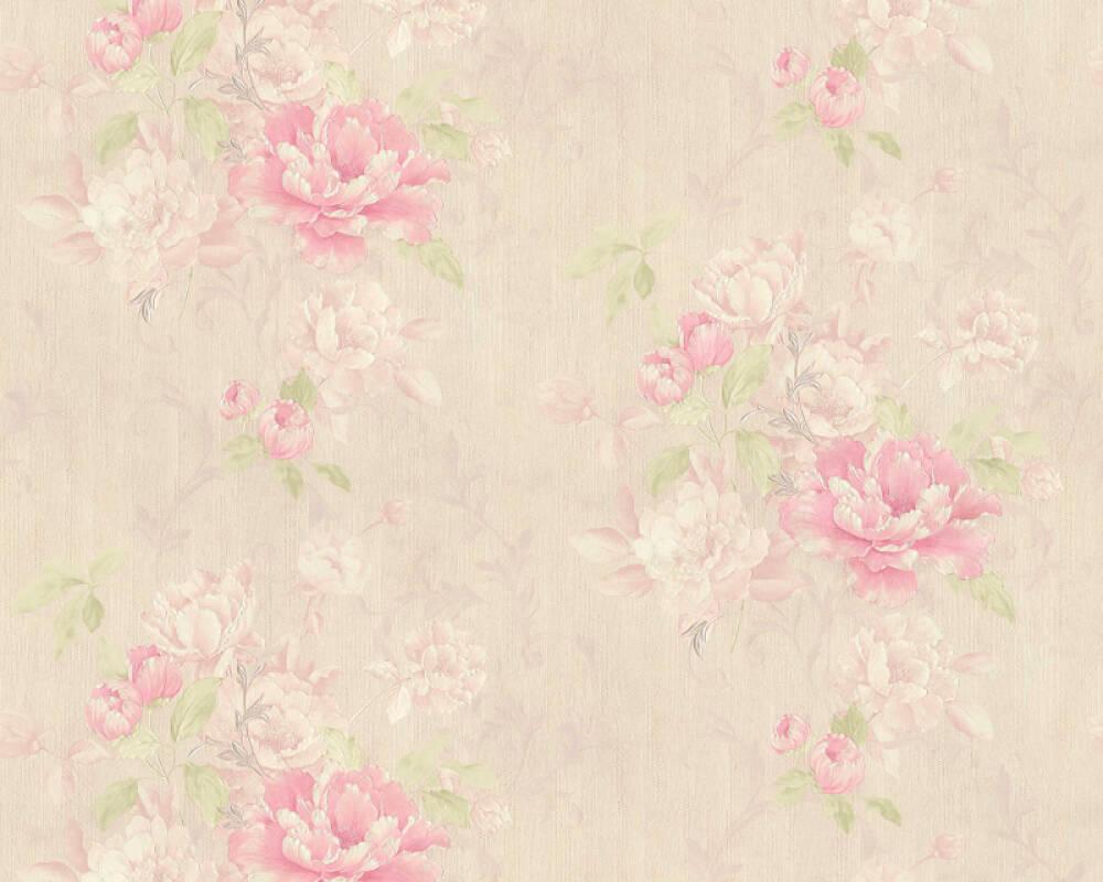 ORIGINALS papier peint Floral, beige, rose, vert 305652