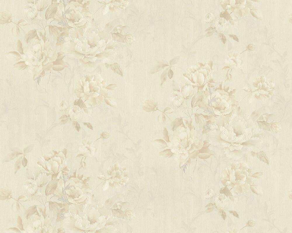 ORIGINALS papier peint Floral, beige, marron, métallique 305655