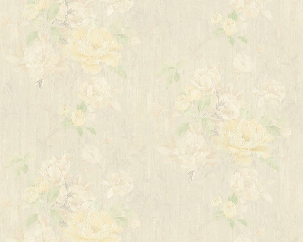 ORIGINALS papier peint Floral, beige, jaune, vert 305656