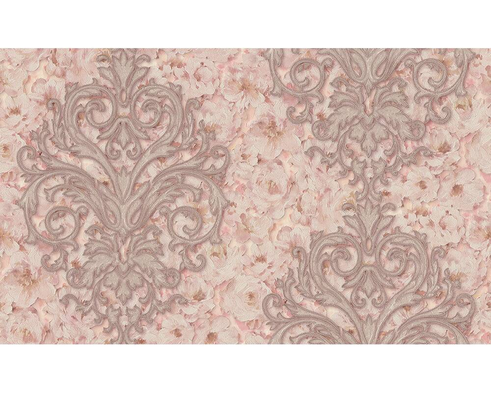 A S Creation Wallpaper Floral Cream Gold Metallic Pink 305945