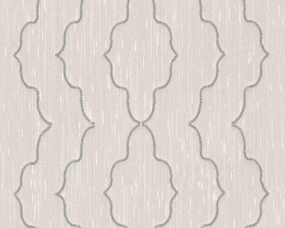 Architects Paper Design panel Baroque, Cream, Metallic, Silver 306152
