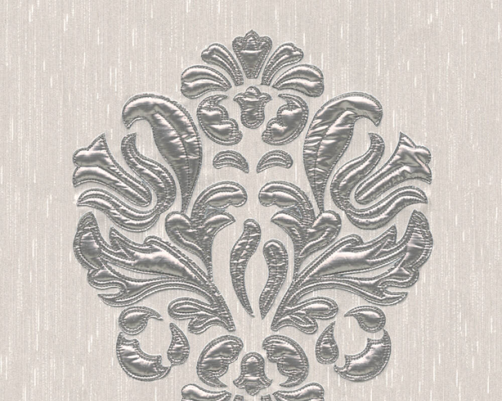 Architects Paper Design panel Baroque, Cream, Metallic, Silver 306342
