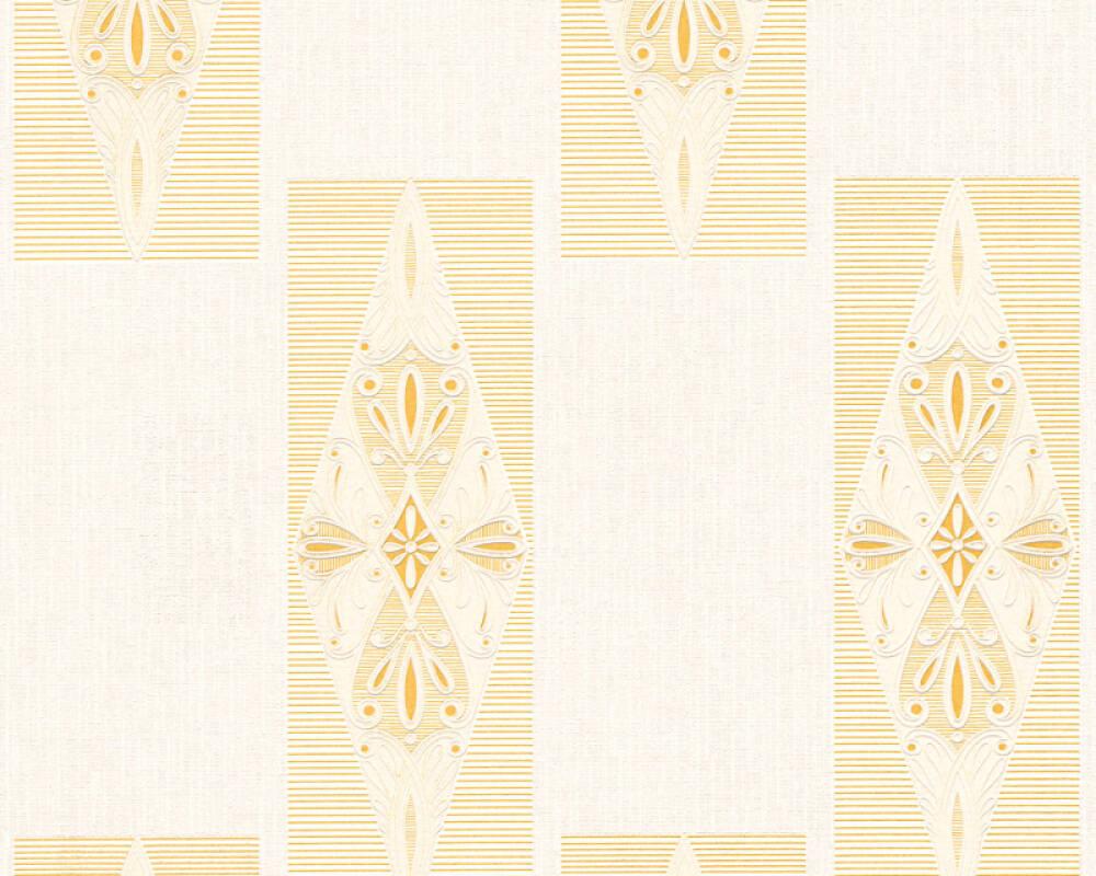 Ethno Vinyl-Papiertapete - New Orleans - 306393 30639-3 - Creme, Gelb, Metallics
